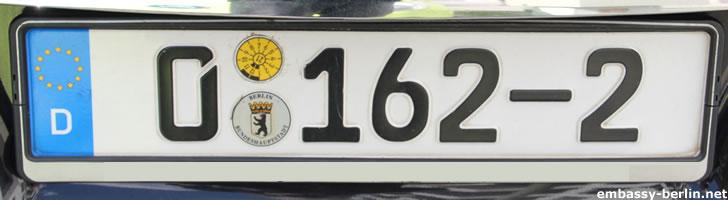 Diplomatenkennzeichen Georgien (0 162-2)