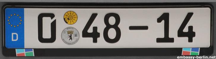 Diplomatenkennzeichen Griechenland (0 48-14)