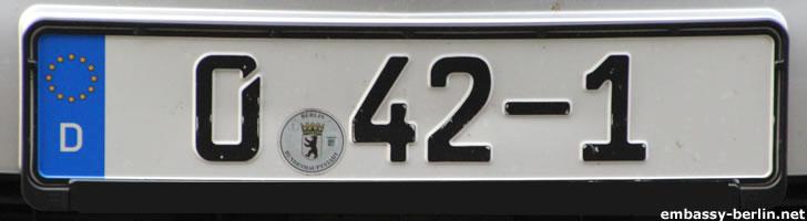 Diplomatenkennzeichen Botschafter Liechtenstein (0 42-1)