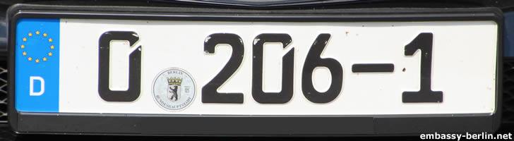 Diplomatenkennzeichen Malediven (0 206-1)