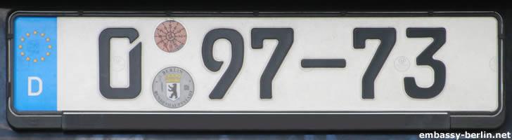 Diplomatenkennzeichen Niederlande (0 97-73)