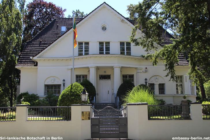 Botschaft der Demokratischen Sozialistischen Republik Sri Lanka in Berlin